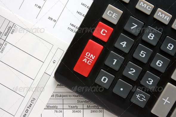 Stock Photo - PhotoDune Calculator And Tax Reports 559619