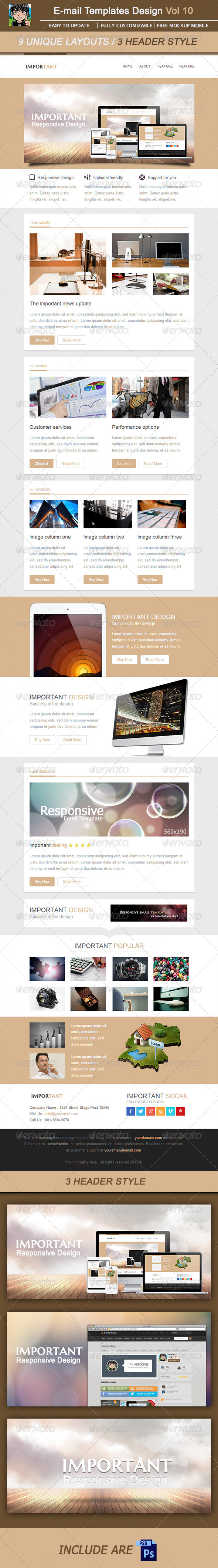 GraphicRiver IMPORTANT-Email Template Design Vol 10 5435052