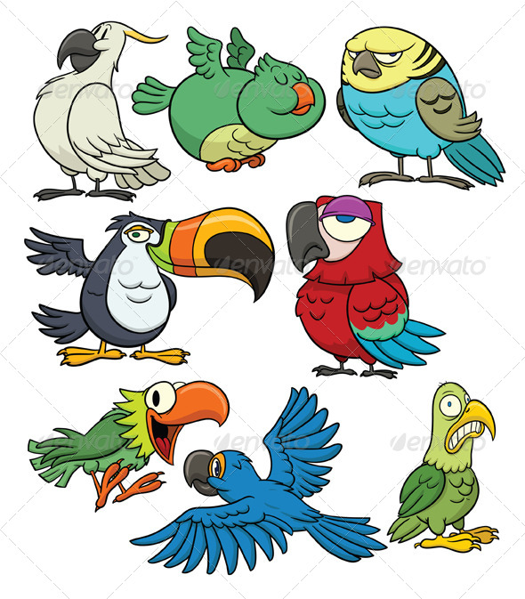 GraphicRiver Tropical Birds 5435456