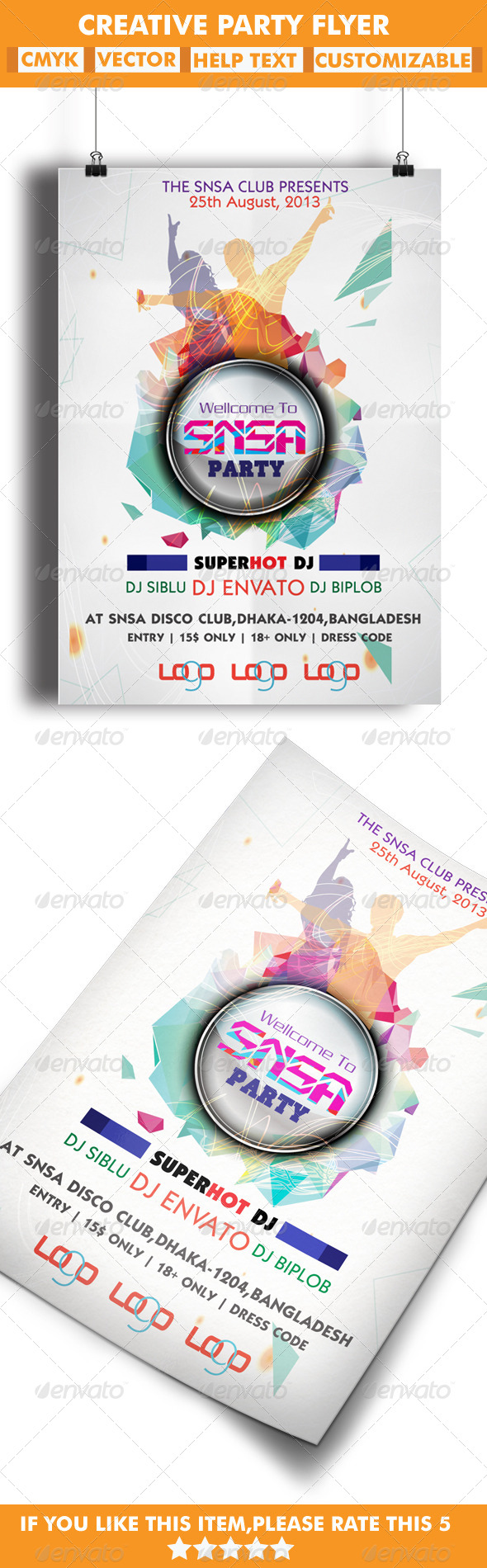 GraphicRiver Creative Party Flyer 5343135