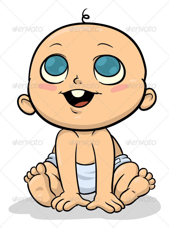 GraphicRiver Cartoon Baby 5435484