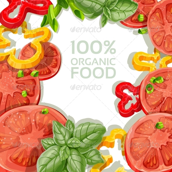 GraphicRiver Background with Fresh Vegetables 5435544