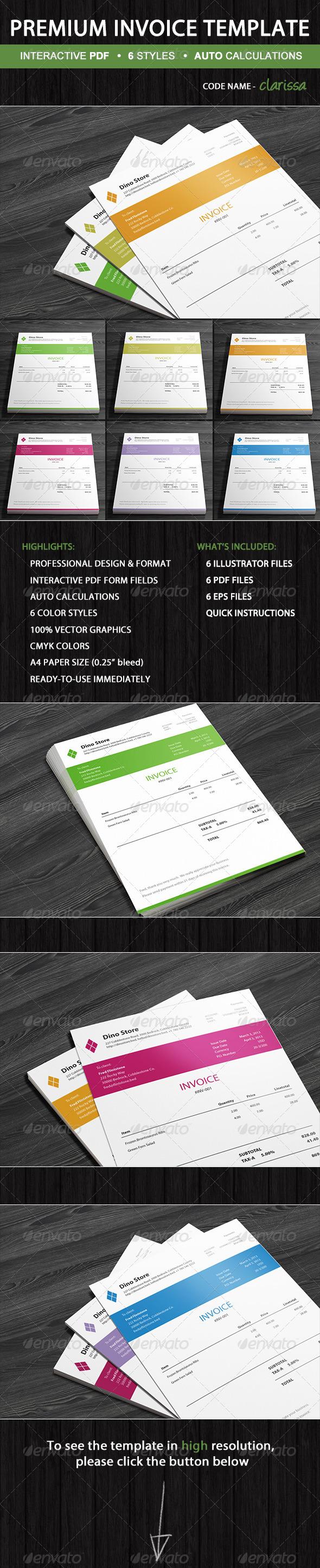 GraphicRiver Professional Invoice Template Clarissa 5435597