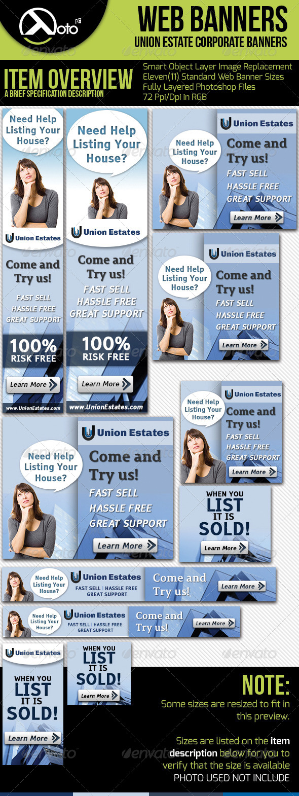 GraphicRiver Real Estate Corporate Web Banners 5435633
