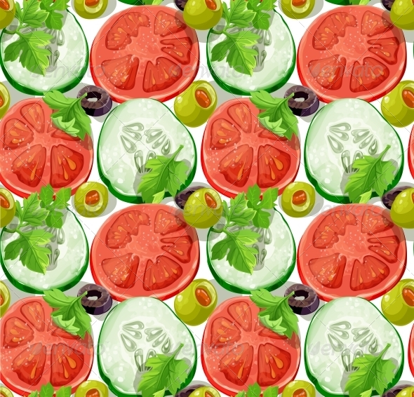 GraphicRiver Seamless Ornament Slices of Vegetables 5435695