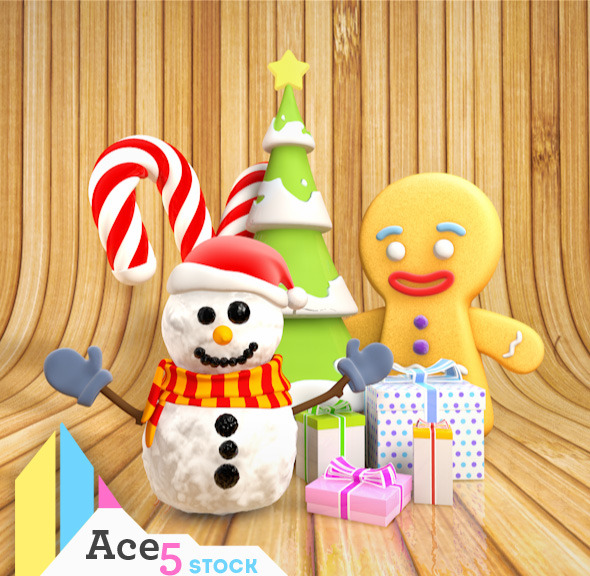 3DOcean Christmas Pack 01 5435749