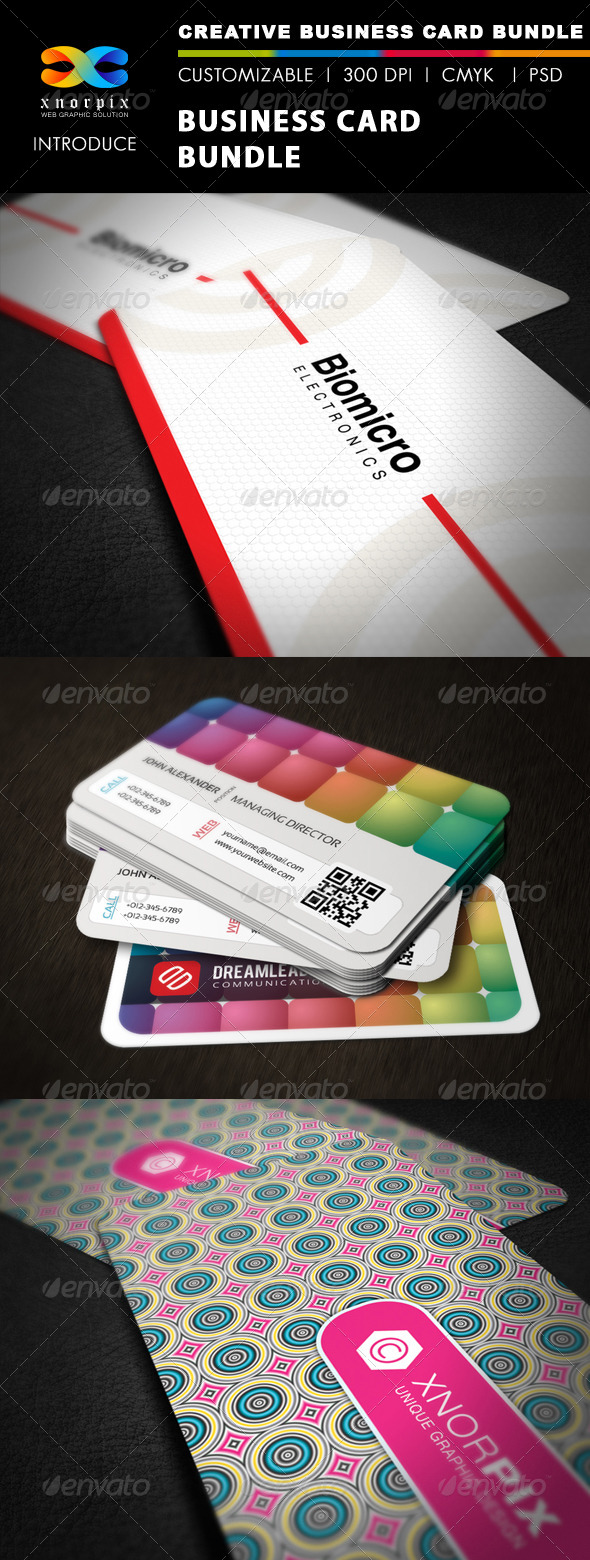 GraphicRiver Business Card Bundle 3 in 1-Vol 21 5436142