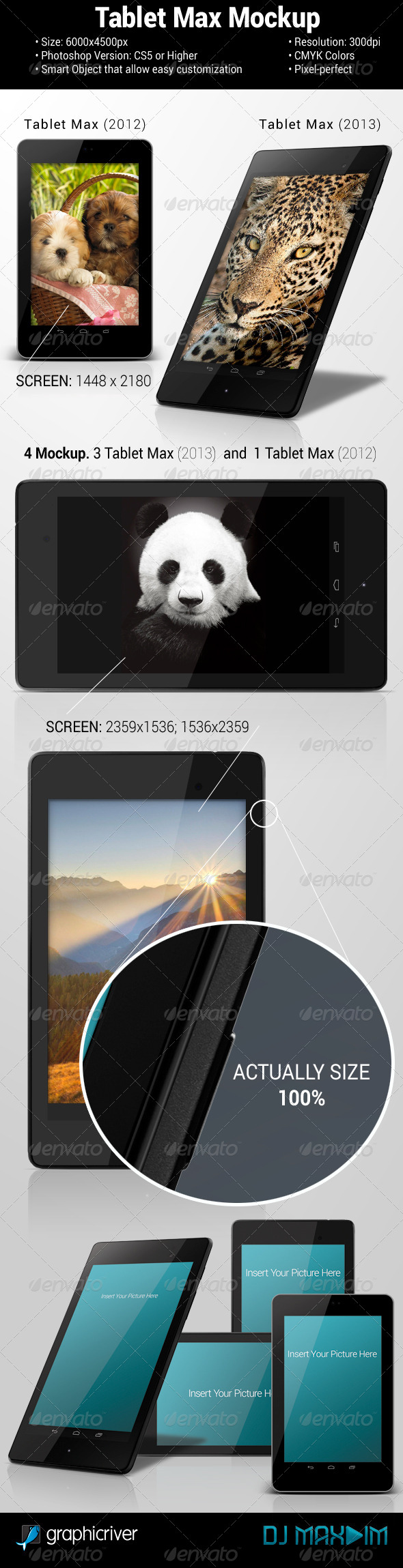 GraphicRiver Tablet Max Mockup 5401678