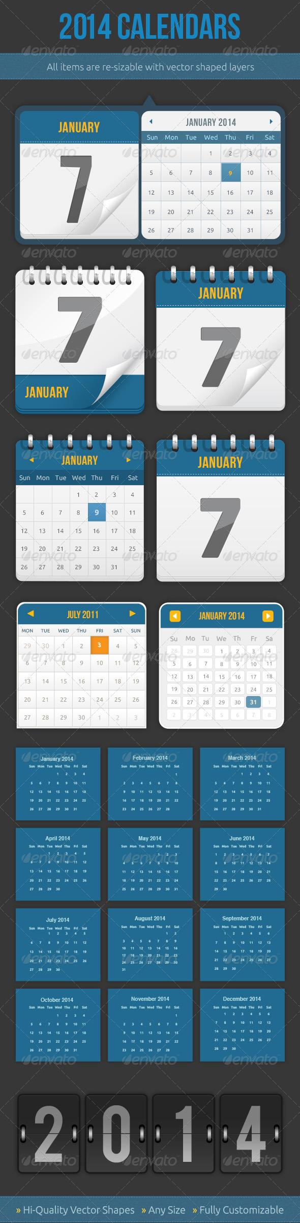 GraphicRiver Calendars 5436387
