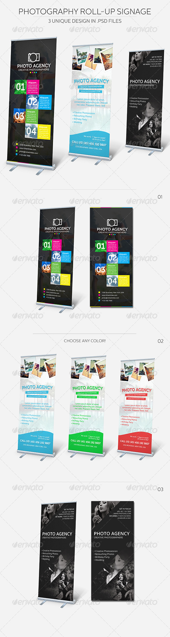 GraphicRiver Photography Roll-up Signage 5416669
