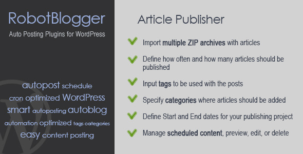 CodeCanyon RobotBlogger Article Publisher for WordPress 5350025