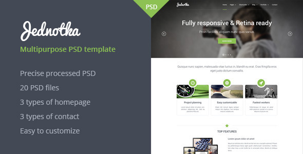 ThemeForest Jednotka Multipurpose Website PSD Template 5437643