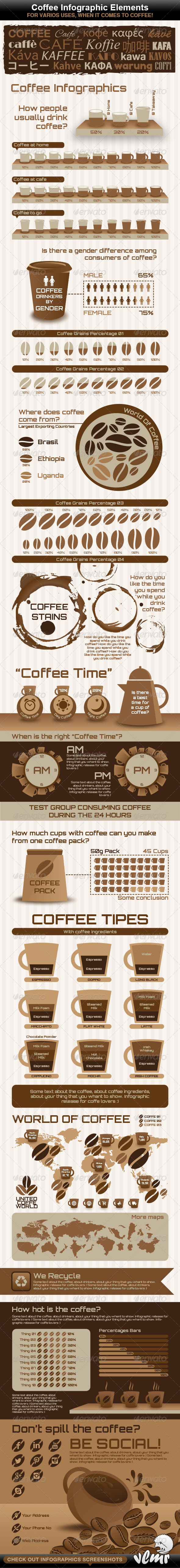 GraphicRiver Coffee Infographic Elements 5437739