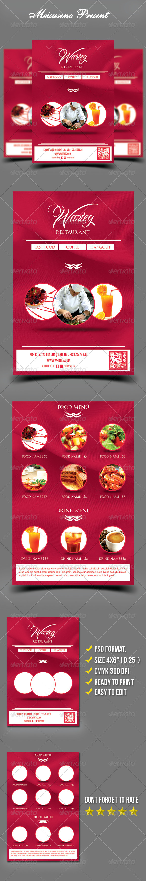 Warteg Restaurant Flyer Template - Restaurant Flyers