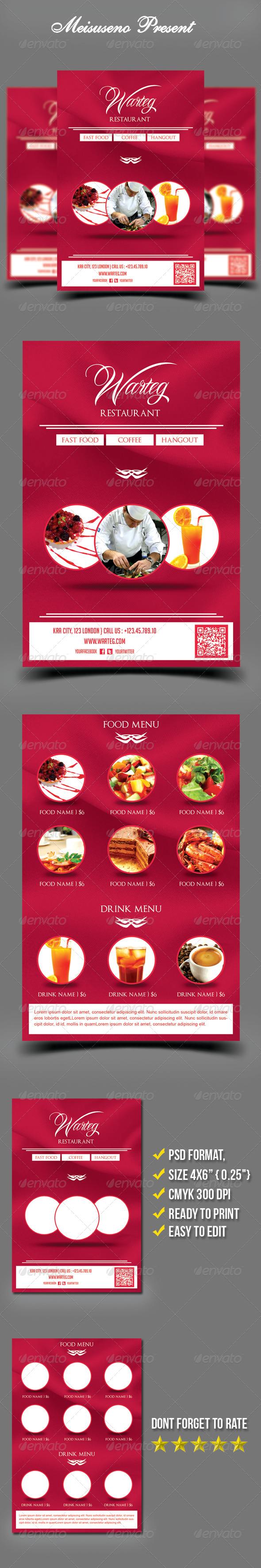 GraphicRiver Warteg Restaurant Flyer Template 5412740