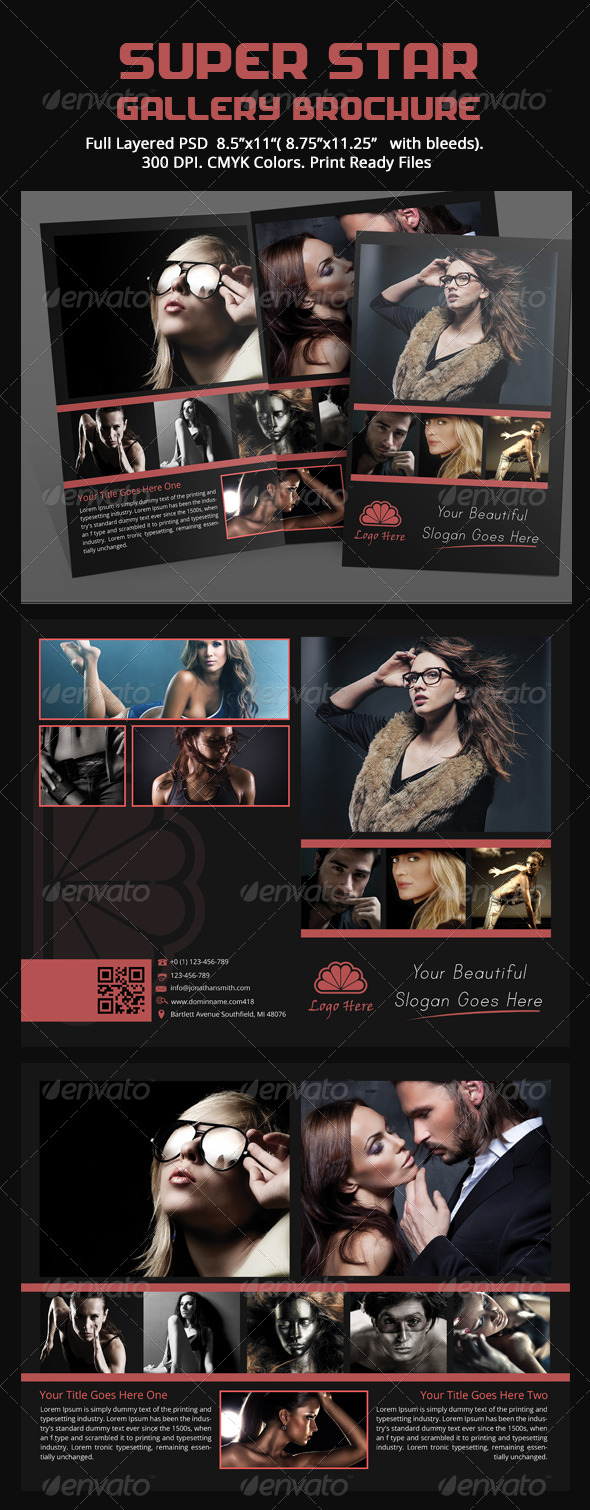 GraphicRiver Super Star Gallery Brochure 5438455