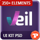 Veil - Uber Premium Web UI Kit and Web Elements - GraphicRiver Item for Sale