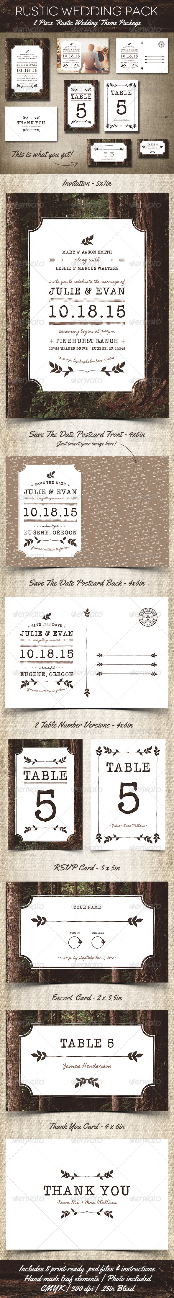 GraphicRiver Rustic Wedding Pack 5416218