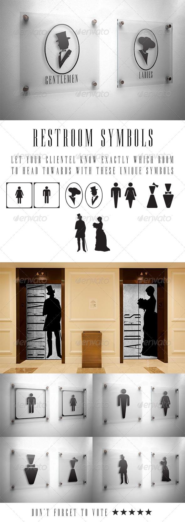 GraphicRiver Restroom Vector Symbols 5438568