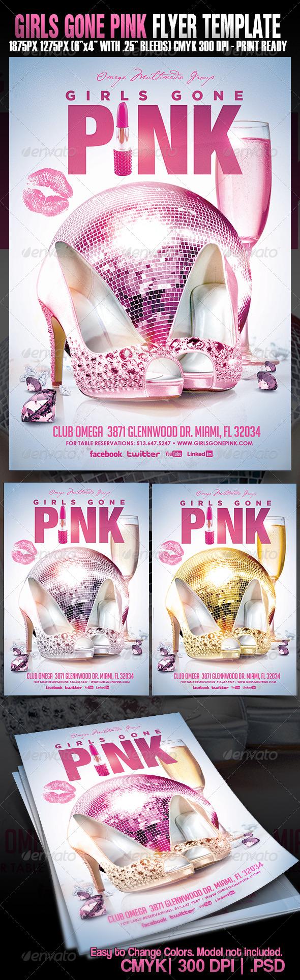 GraphicRiver Girls Gone Pink 5438583