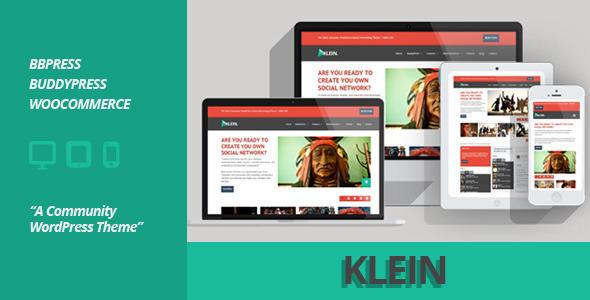 ThemeForest Klein A Community WordPress Theme 5418518