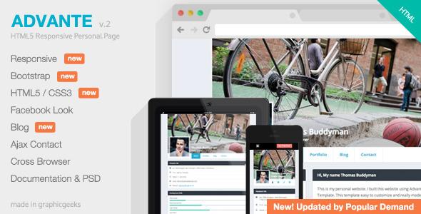 Advante - Responsive HTML5 Personal Page