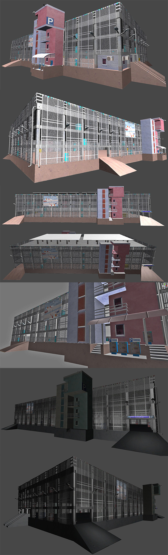 3DOcean Parking Garage Building 5439419