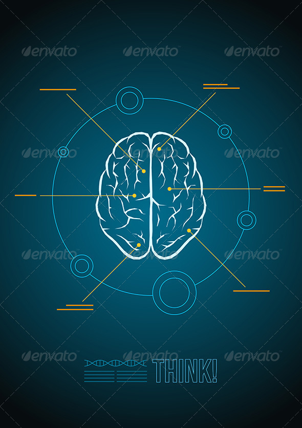 GraphicRiver Brain Infographic 5433190