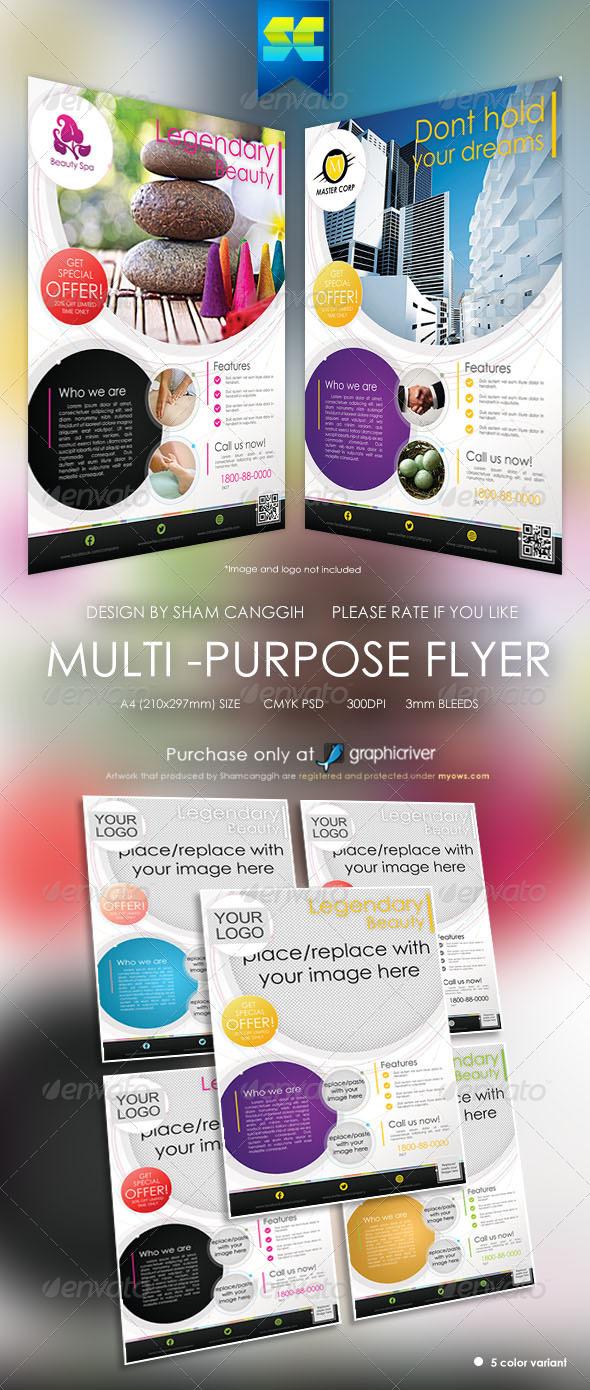 Modern Multi-purpose Corporate Flyers - Corporate Flyers