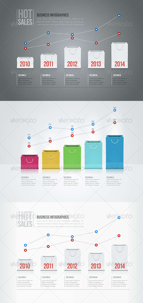 GraphicRiver Shopping Bag Infographics 5433550