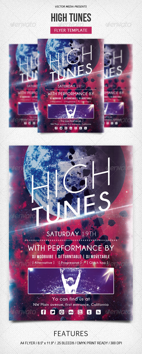GraphicRiver High Tunes Flyer 5439806