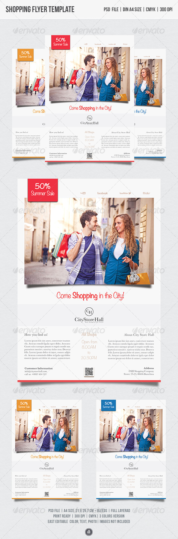 GraphicRiver Shopping Flyer Template 5439886