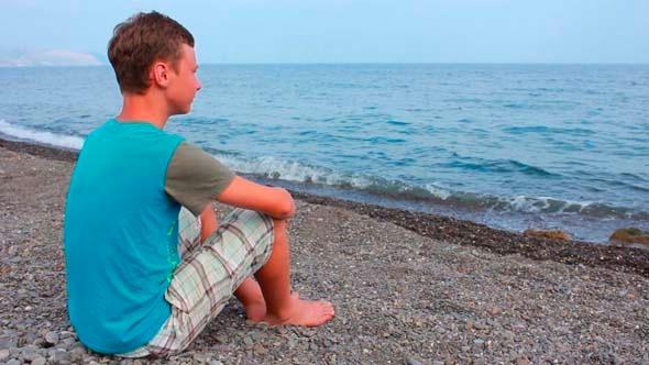 Boy On Beach 1