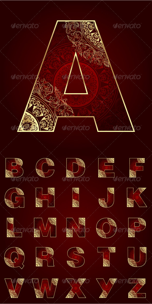 GraphicRiver Vintage Alphabet Set 5440441