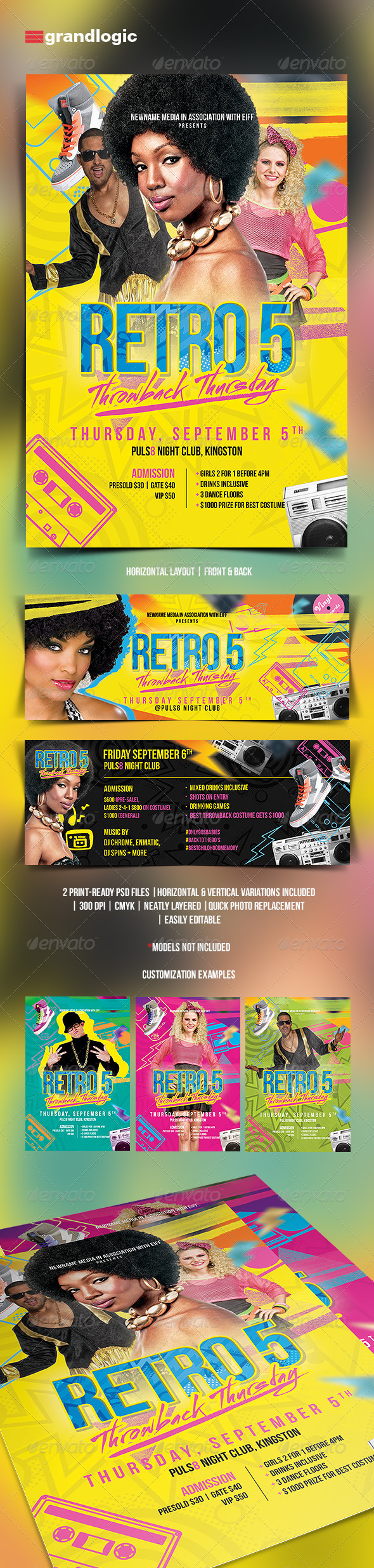 GraphicRiver 80 s Throwback Party Flyer 5440537