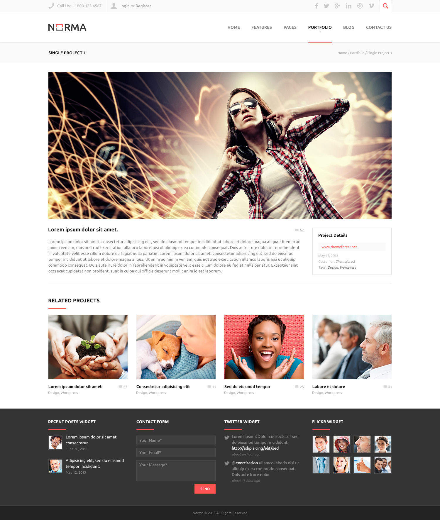 NORMA | Clean & Responsive Drupal Theme