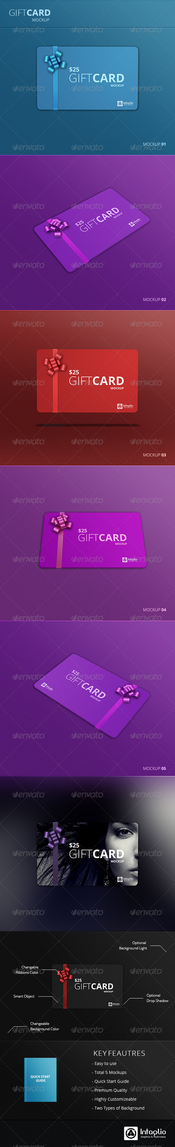 GraphicRiver Gift Card Mockup v2 5381169