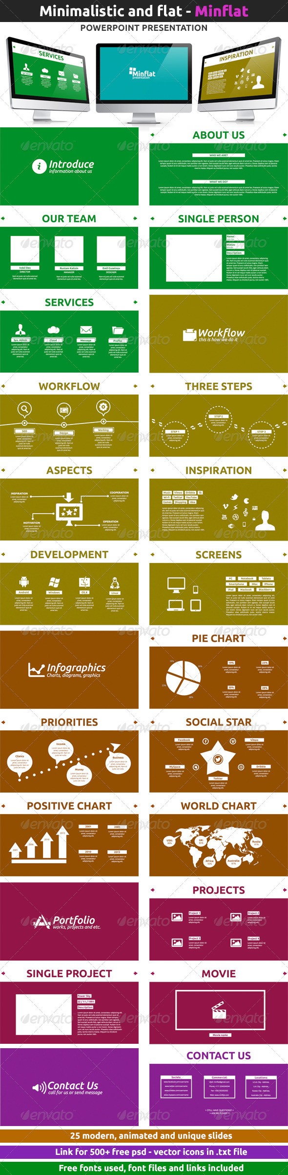 GraphicRiver Minflat Powerpoint Presentation 5441837