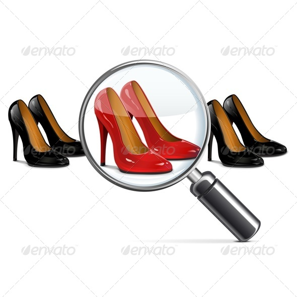 GraphicRiver Vector Female Shoes with Lens 5441836