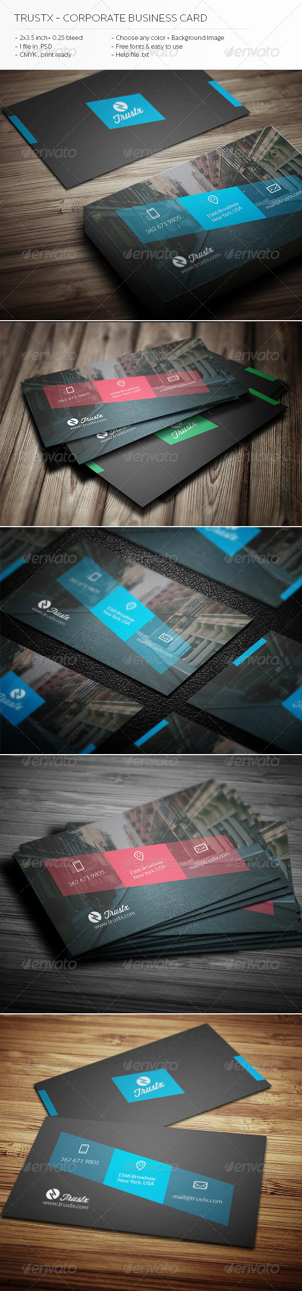 Trustx - Corporate Business Card - Corporate Business Cards
