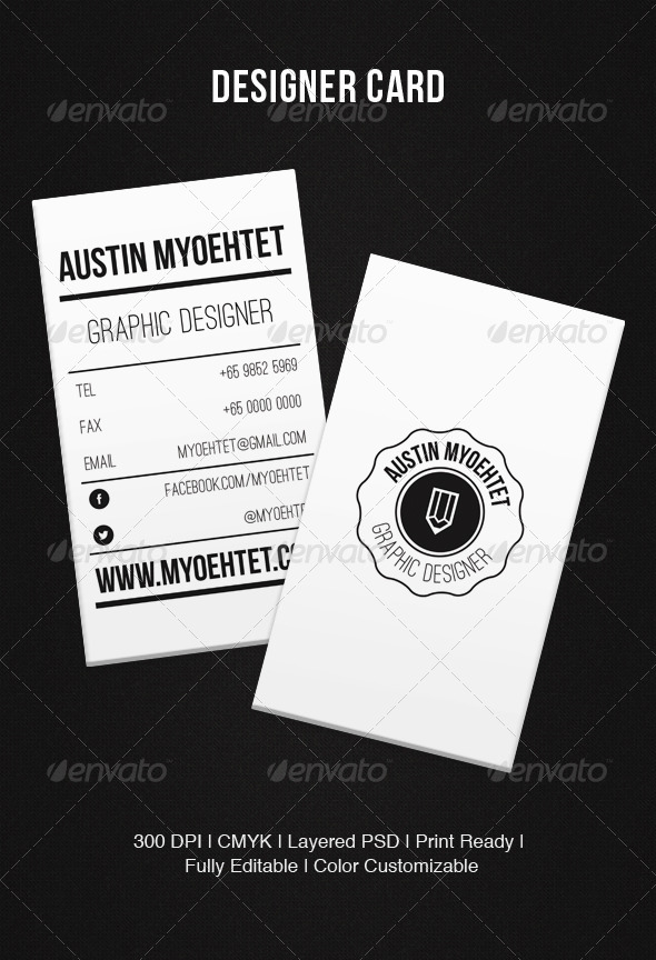 GraphicRiver Designer Card 5421849