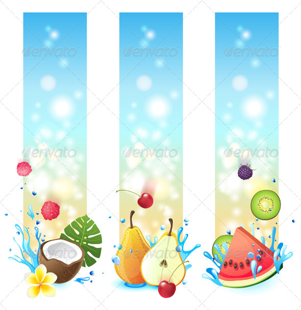 Vertical Fruits Banners
