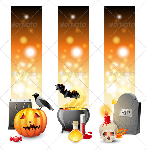 GraphicRiver Halloween Banners 5442372