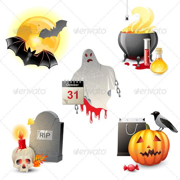 GraphicRiver Halloween Icons 5442379