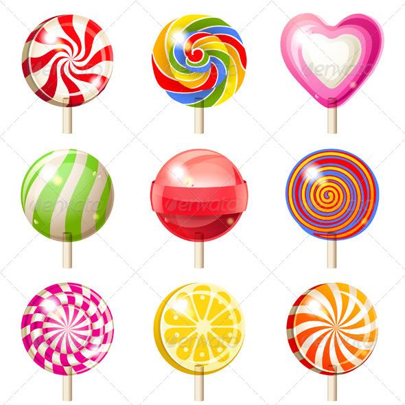 GraphicRiver Lollipops Set 5442383