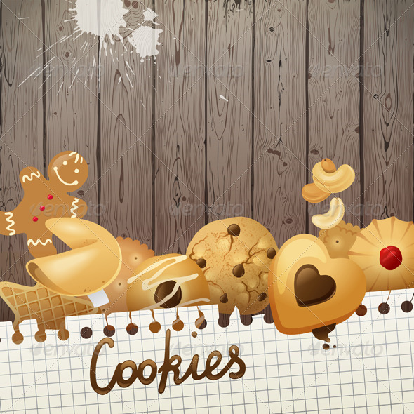 GraphicRiver Background with Cookies 5442410