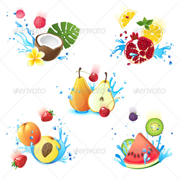 GraphicRiver Fruits in Splashes 5442522