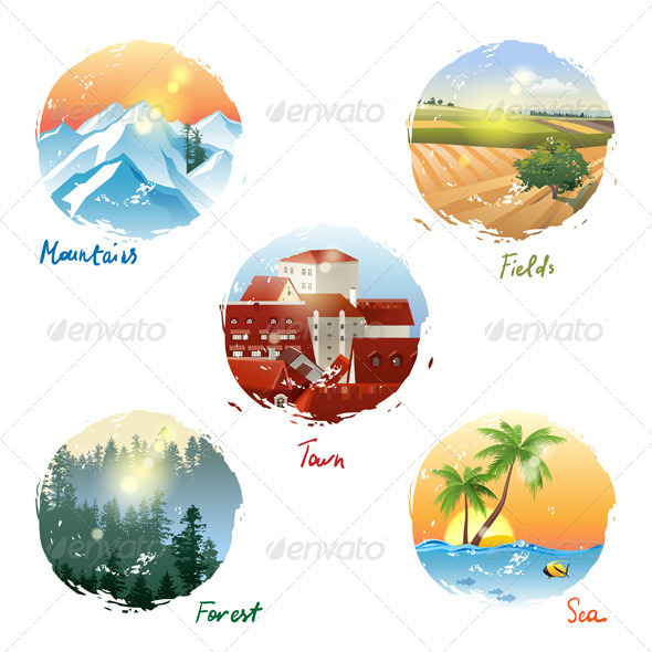 GraphicRiver Landscape Types 5442526