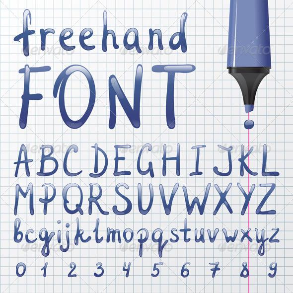 GraphicRiver Hand Drawn Font 5341135