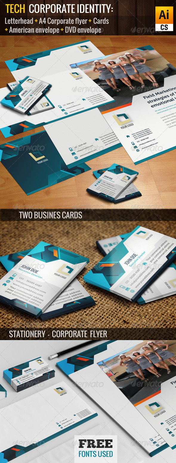 GraphicRiver Tech Corporate Identity 5422111